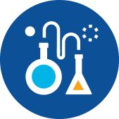 Lab flasks icon - Antibiotic