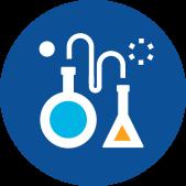 Lab flasks icon - Antibiotic